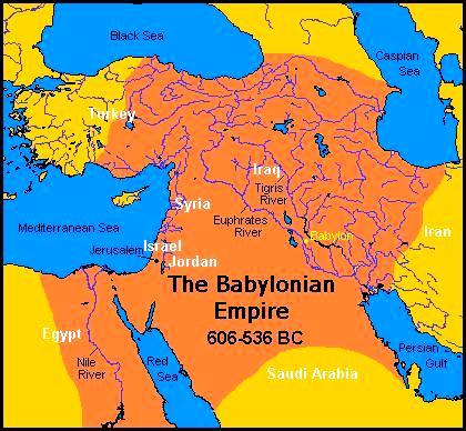 Geographical Map of the Ancient Babylon