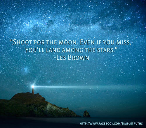 Inspirational Quotes On Pinterest: Shoot For The Moon